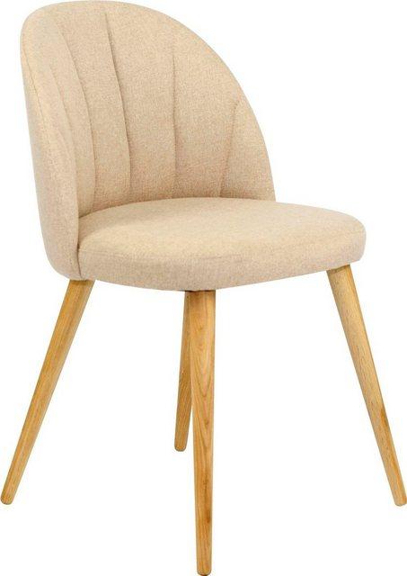 Stühle und Bänke - my home Polsterstuhl »Donna« (Set, 2 Stück), aus massiver Eiche natur  - Onlineshop OTTO