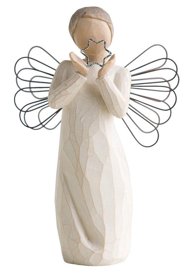 Figur, Willow Tree, »Schutzengel - Ein Stern wacht über Dir« in natur