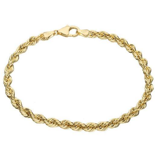 Luigi Merano Armband »Kordelkette, hohl, Gold 585«
