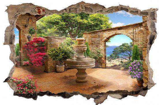 DesFoli Wandtattoo »Brunnen Toskana Natur Paradies D0513«
