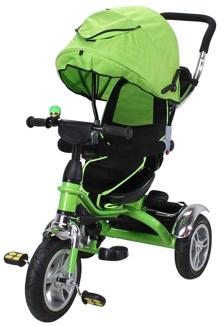 miweba Kinder-Buggy »Kinderdreirad 7 in 1 Schieber Kinderwagen«, 360° Drehbar - Luftreifen - Dreirad - Ab 1 Jahr