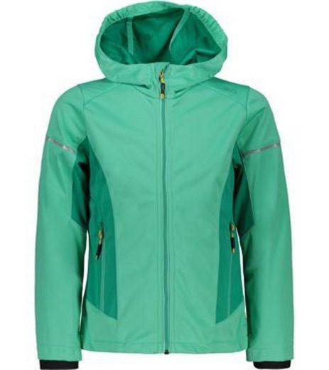 CAMPAGNOLO Softshelljacke »Campagnolo Girls Light Softshell-Jacke sportliche Kinder Outdoor-Jacke winddicht Freizeit-Jacke Grün«