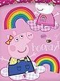 Kinderbettwäsche »Peppa Pig Wutz - 2 x Wende-Bettwäsche für Mädchen, 135x200 & 80x80 cm«, Peppa Pig, 100% Baumwolle, Bild 4