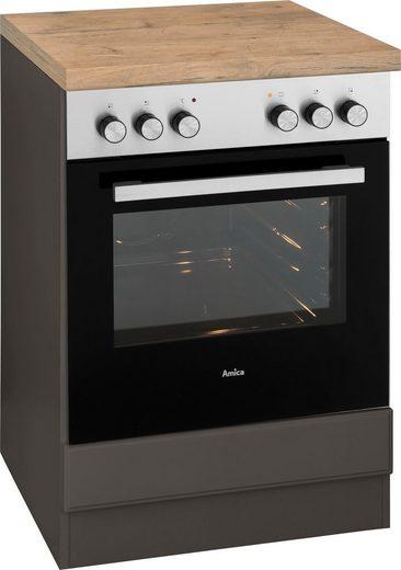 wiho Küchen Herdumbauschrank »Erla« 60 cm breit mit Kassettenfront