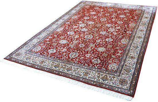 Seidenteppich »Allover 4185«, Kayoom, rechteckig, Höhe 10 mm, Einzelstück mit Zertifikat