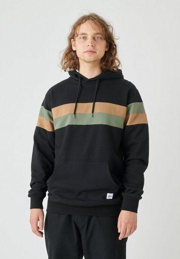 Cleptomanicx Kapuzensweatshirt »Lanes« mit trendigen Kontraststreifen