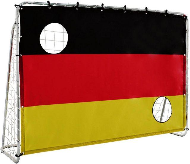 L.A. Sports Fußballtor »Soccer Goal 2in1 Set - Kinder Tor mit Netz und Torschusswand« (2in1 Kinderfussballtor und Torschusswand)