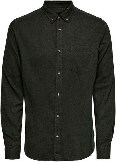 ONLY & SONS Flanellhemd »SIMON LIFE SOLID FLANNEL SHIRT«
