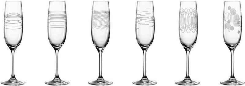 LEONARDO Sektglas »Casella«, Glas, 190 ml, 6-teilig