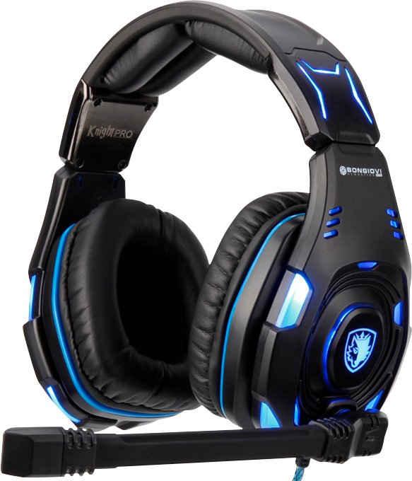 Sades »Knight Pro SA-907Pro« Gaming-Headset (Noise-Reduction, RGB-Beleuchtung, kabelgebunden, Kompatibel mit PC, PS4)