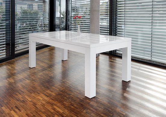 SalesFever Esstisch, erweiterbar durch Ansteckplatten