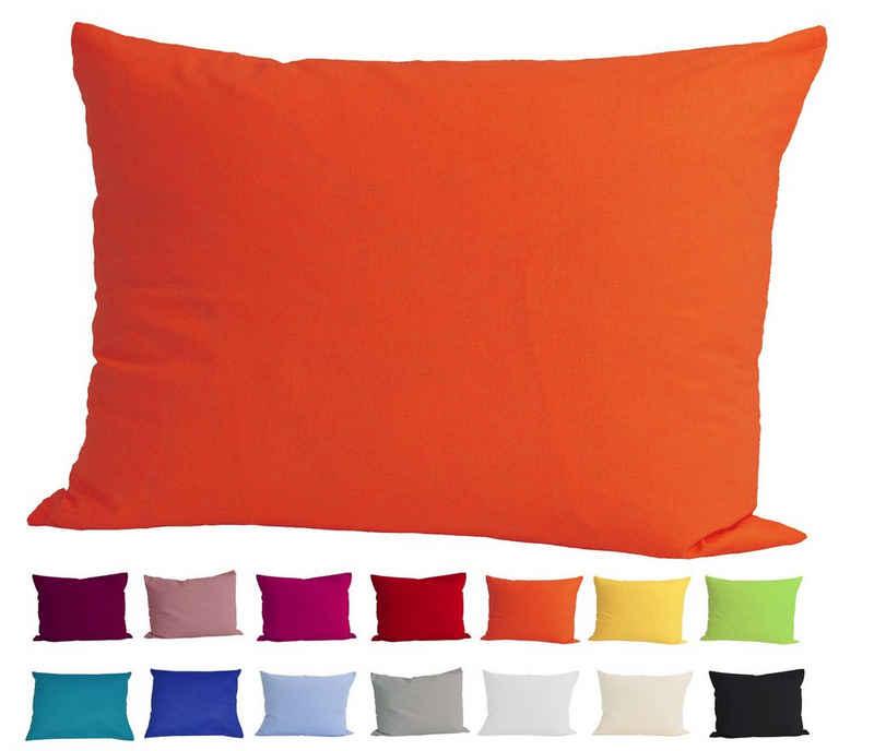 Kissenbezug »Basic«, beties, Kissenhülle ca. 40x60 cm 100% Baumwolle in vielen kräftigen Uni-Farben (orange)