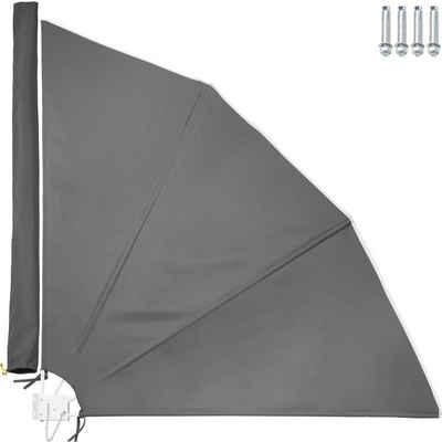 140-160cm Windschutz Balkonfächer Balkonsichtschutz Natur Sonnenschutz Klappbar