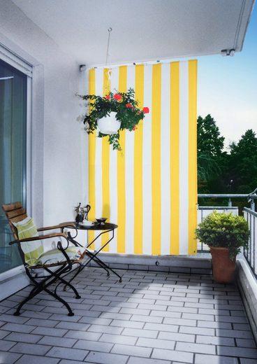 FLORACORD Seilspannsonnensegel BxH: 140x230 cm, gelb/weiß