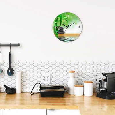 Artland Wanduhr »Spa Konzept Zen Basaltsteine« (lautlos, ohne Tickgeräusche, nicht tickend, geräuschlos - wählbar: Funkuhr o. Quarzuhr, moderne Uhr für Wohnzimmer, Küche etc. - Stil: modern)
