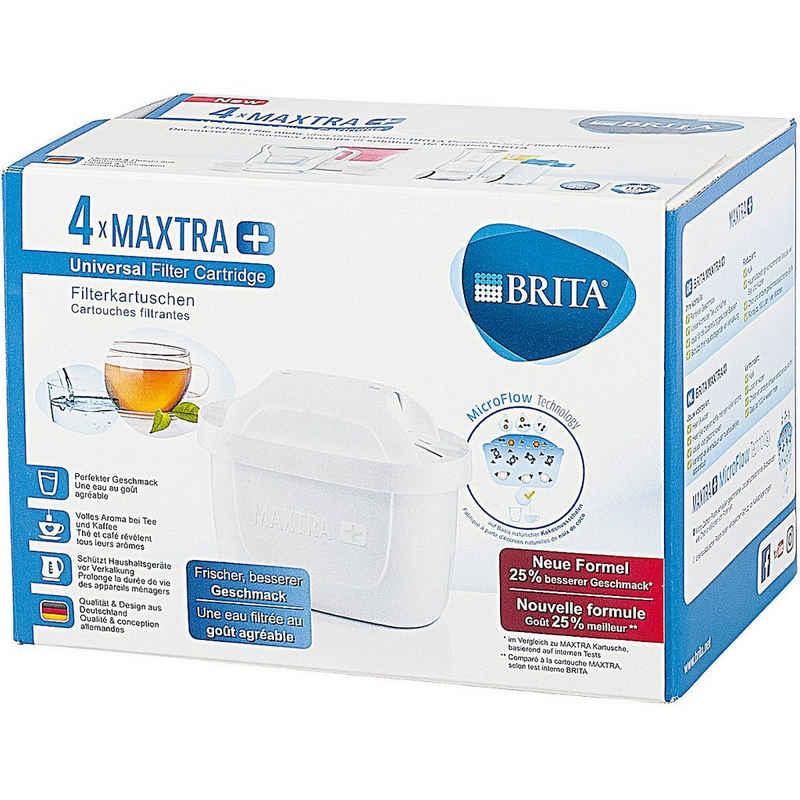BRITA Wasserfilter 4er-Set Filterkartusche MAXTRA+