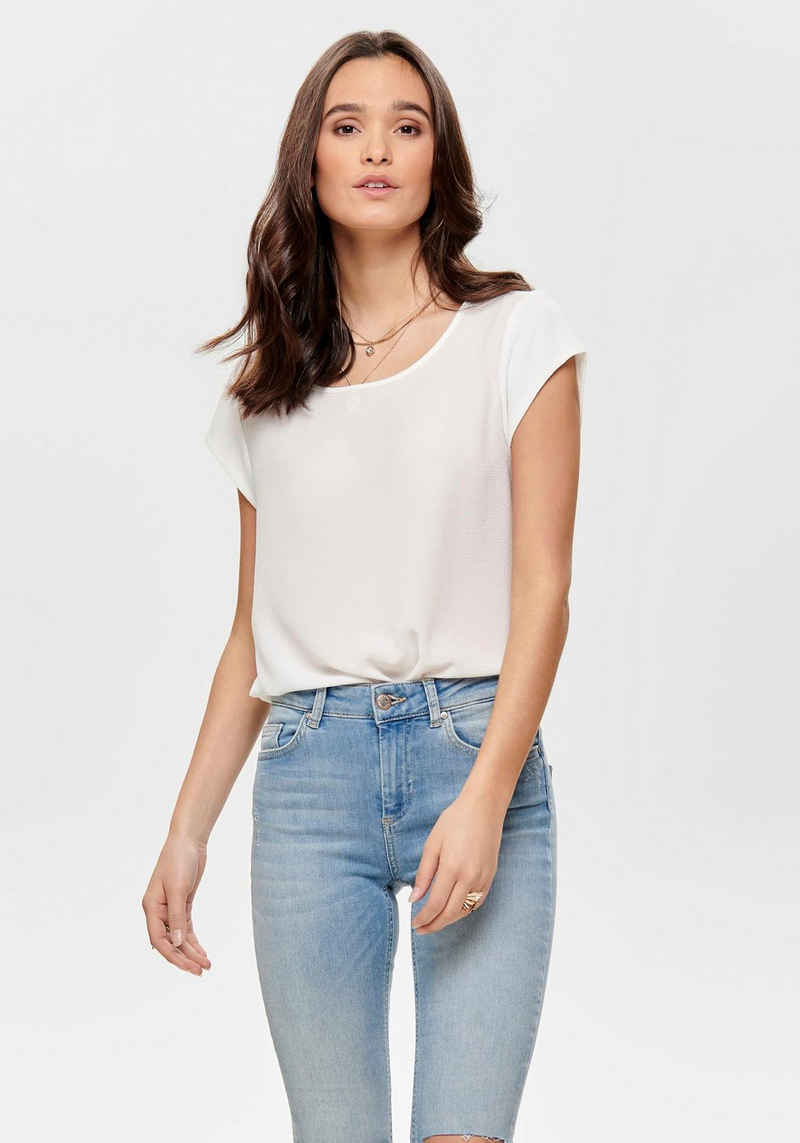 Only Shirtbluse »ONLVIC S/S SOLID TOP«