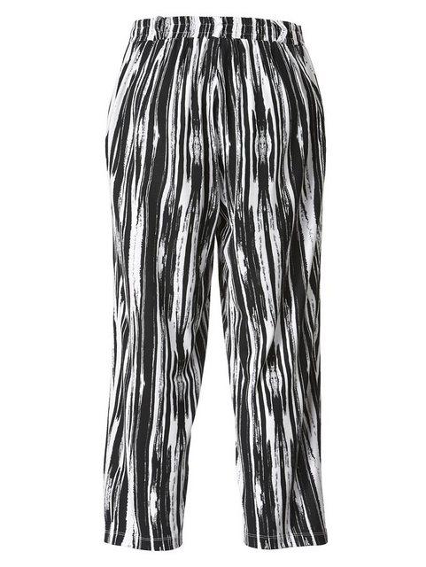 Hosen - Angel of Style by HAPPYsize Schlupfhose mit grafischem Dessin › schwarz  - Onlineshop OTTO