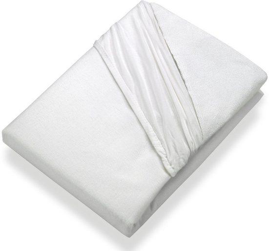 Matratzenschoner »Sommer-Winter AIR Spannbetttuch« SETEX, Kochfest bis 95 Grad – mit Jerseyrand und Gummizug, passend für bis zu 30 cm hohe Matratzen