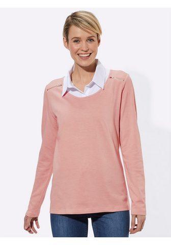 Casual Looks 2 in 1 ilgomis rankovėmis marškinėliai...