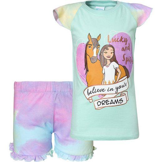 DREAMWORKS Spirit RIDING FREE Schlafanzug »Spirit Schlafanzug für Mädchen«