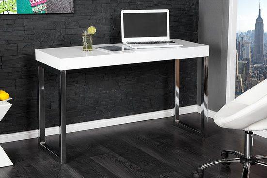 riess-ambiente Konsolentisch »WHITE DESK 120cm weiß«, Konsole · Hochglanz · Bürotisch · Modern Design