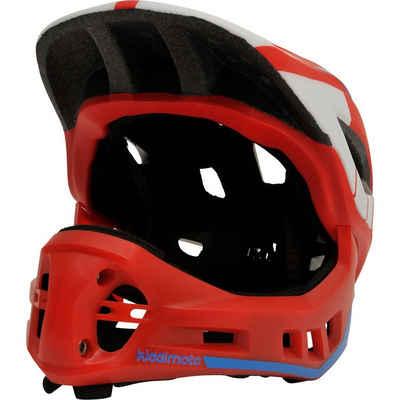Kiddimoto Kinderfahrradhelm »Fahrradhelm 2-in-1 mit abnehmbarem Kinnschutz,«