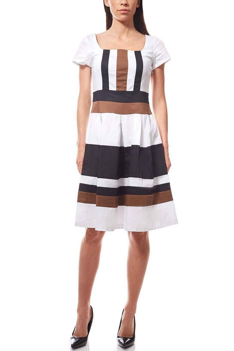 Ashley Brooke by heine Sommerkleid »Knielanges Prinzesskleid Kleid Jerseykleid gestreift Weiß ashley brooke«