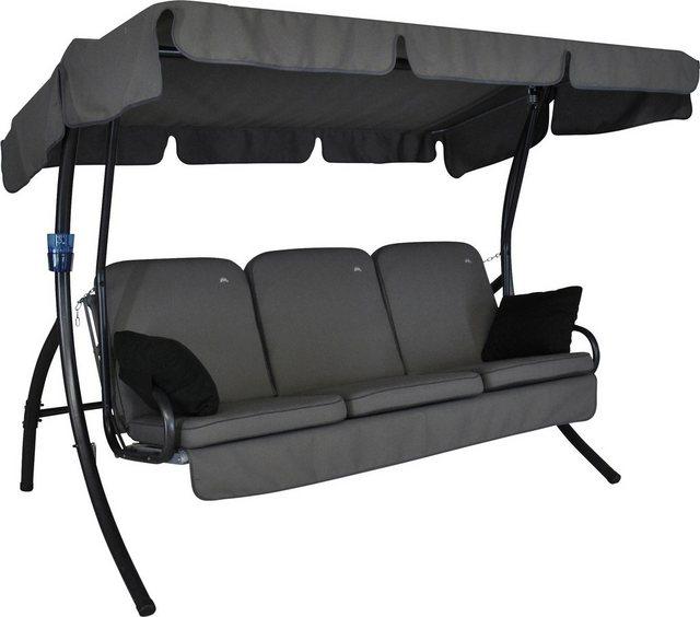 Empfehlung: Comfort Style 3-Sitzer Stahl Hollywoodschaukel mit Dach  von Angerer Freizeitmöbel*