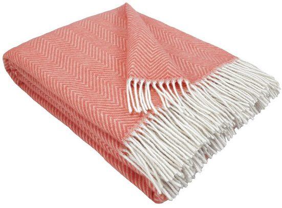 """Wolldecke »Wohndecke Wolldecke Plaid """"TIROL-M"""" aus 100% Schurwolle 140 x 200 cm in vielen Farben erhältlich«, STTS"""