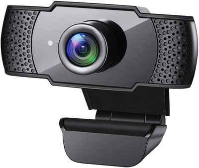 IVSO »Webcam mit Mikrofon, 1080P HD-Streaming USB-Computer Webcam [Plug and Play] [30 fps] für PC-Videokonferenzen / Anrufe / Spiele,« Webcam (1920*1080, Laptop / Desktop Mac, Skype / YouTube / Zoom / Facetime)