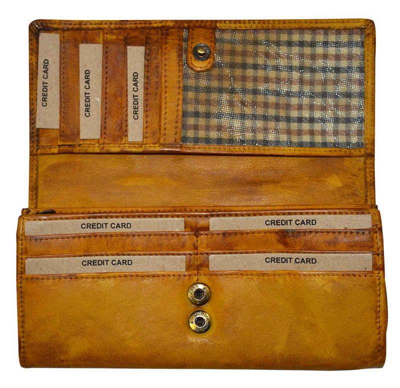 Goodman Design Geldbörse »Damen Geldbeutel Echt Leder Wallet Brieftasche Portmonnaie«, aus weichem Waschleder
