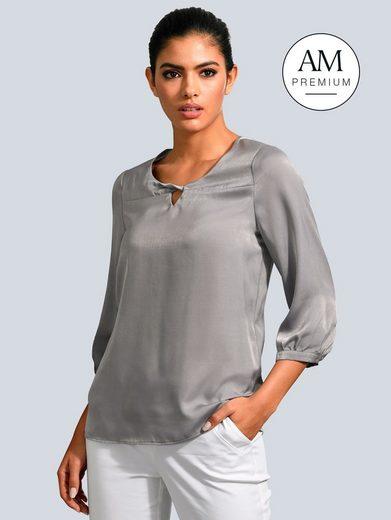 Alba Moda Bluse mit modischer Ausschnittlösung