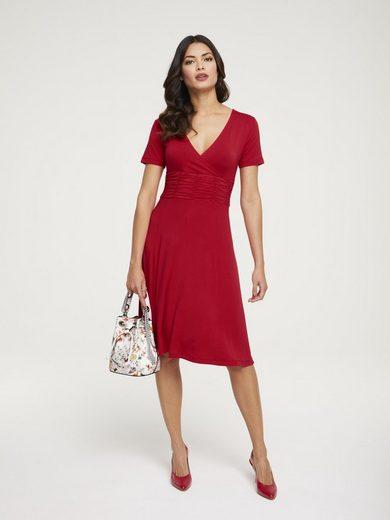 heine TIMELESS Jerseykleid mit Smokeinsatz
