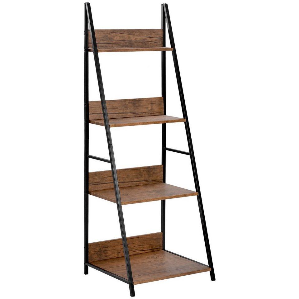 Gotui Bücherregal, »Standregal 20 stufiges Leiterregal, Regal für  Badezimmer, Wohnzimmer, Holzoptik und Metallrahmen, vintage online kaufen    OTTO