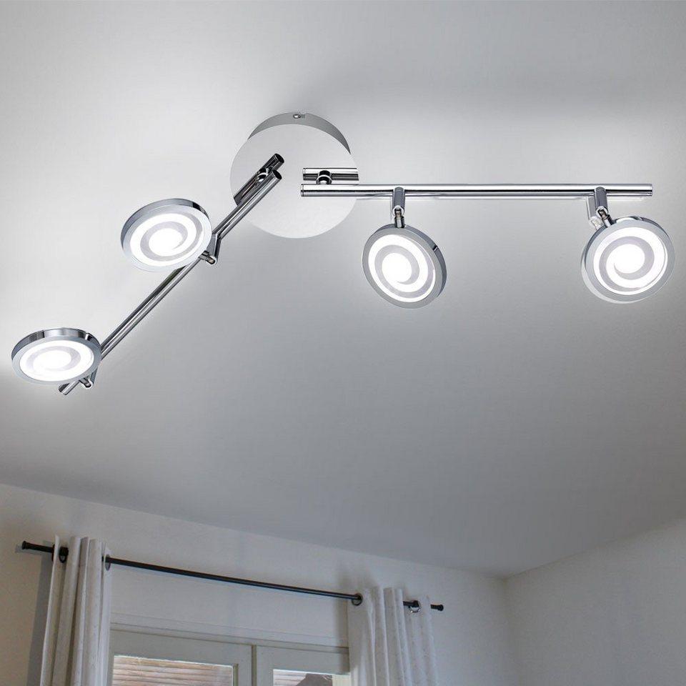 Decken Lampe Ess Zimmer Beleuchtung verstellbar Strahler Leuchte Spot Leiste