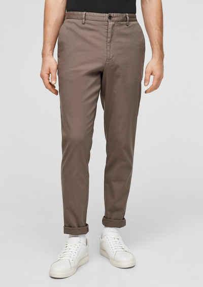 s.Oliver BLACK LABEL Stoffhose »Slim Fit: Slim leg-Hose« (1-tlg) Garment Dye