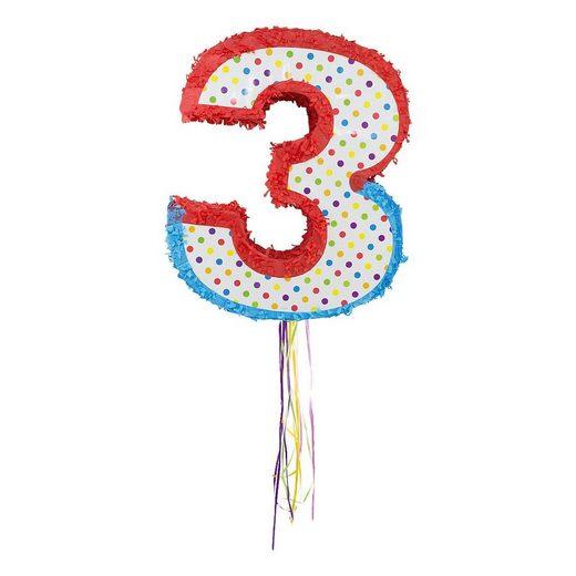 Folat Papierdekoration »Piñata Zahl 3«