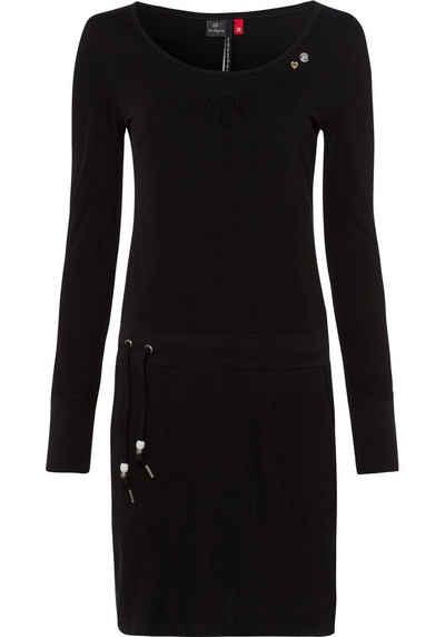 Ragwear Jerseykleid »PENELOPE« mit Kordelzug und kontrastigen Zierperlen-Besatz