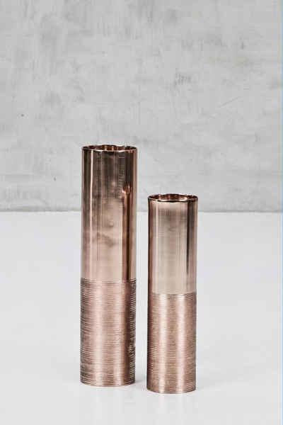 carla&marge Kerzenständer »Abaniola« (2er-Set), aus kupferfarbenem Aluminium