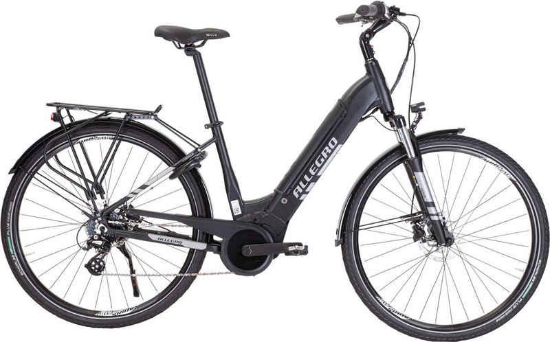 ALLEGRO E-Bike »City S LTD«, 8 Gang Shimano Tourney Schaltwerk, Kettenschaltung, Mittelmotor 250 W