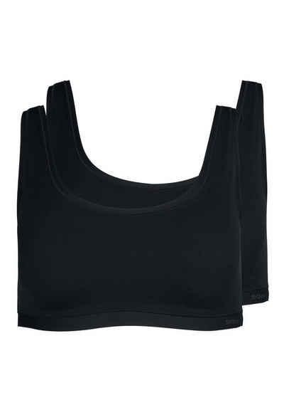 Skiny Bustier »Damen Damen Bustier, 2er Pack - Crop Top, Pure«