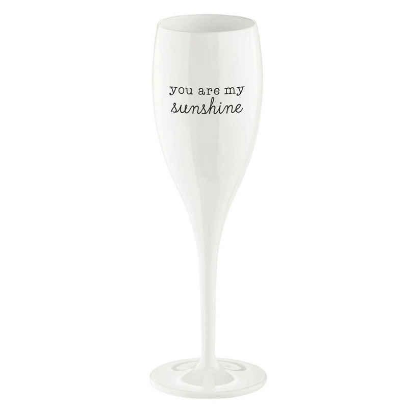 KOZIOL Sektglas »Cheers No.1 You Are My Sunshine«, Kunststoff