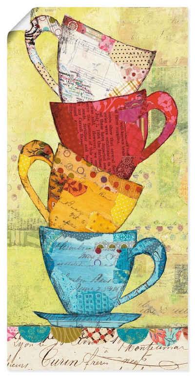 Artland Wandbild »Komm zum Kaffee«, Geschirr & Besteck (1 Stück), in vielen Größen & Produktarten -Leinwandbild, Poster, Wandaufkleber / Wandtattoo auch für Badezimmer geeignet