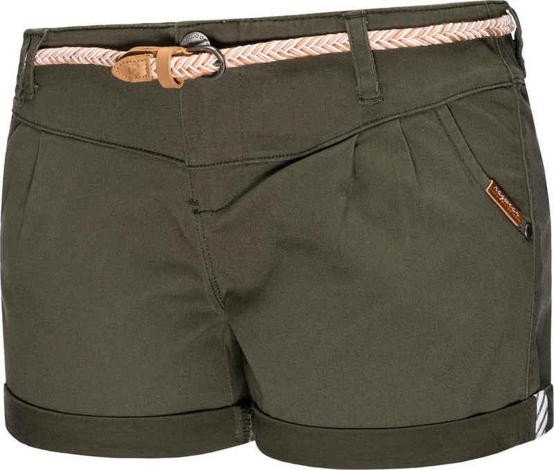 Ragwear Shorts »Heaven B« (2-tlg) leichte Hotpant mit hochwertigem Flechtgürtel
