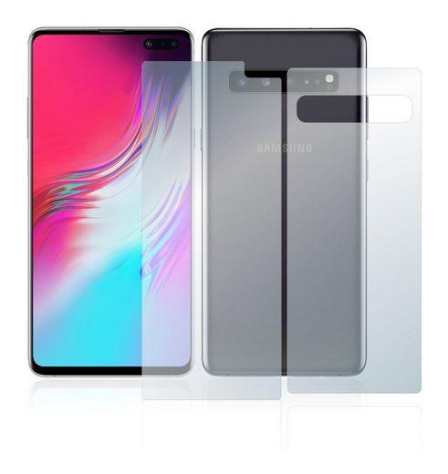 upscreen Schutzfolie »für Samsung Galaxy S10 5G (Vorder + Rückseite)«, Folie Schutzfolie matt entspiegelt antibakteriell