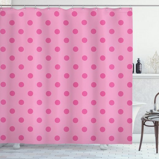 Abakuhaus Duschvorhang »Moderner Digitaldruck mit 12 Haken auf Stoff Wasser Resistent« Breite 175 cm, Höhe 180 cm, Hot Pink Klassische Einfache Punkt