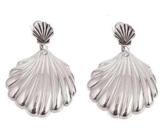 Gemshine Paar Ohrhänger »Maritim Muschel«, Maritim und Beach Schmuck Made in Spain