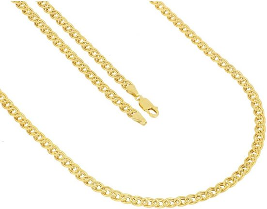 Firetti Goldkette »Doppelpanzerkettengliederung, 5 mm breit, glanz«