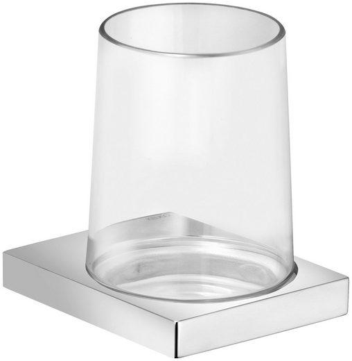 KEUCO Glashalter »Edition 11«, mit Echtkristall-Glas klar, verchromt